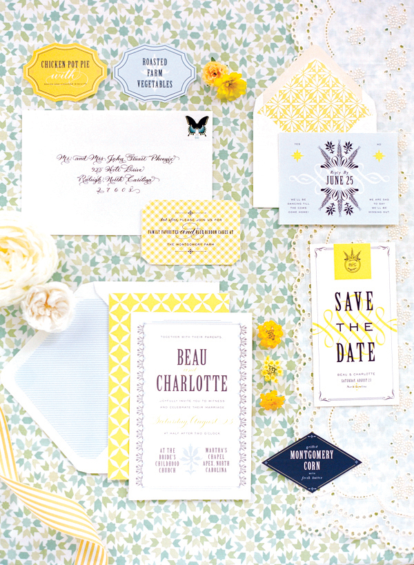 southern-wedding-blue-yellow-invitation
