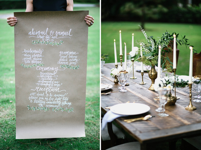 PREPPY-RUSTIC-STRIPES-BLACK-GREEN-GOLD-WEDDING-IDEAS-11