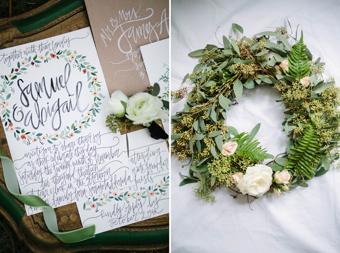 PREPPY-RUSTIC-STRIPES-BLACK-GREEN-GOLD-WEDDING-IDEAS-3