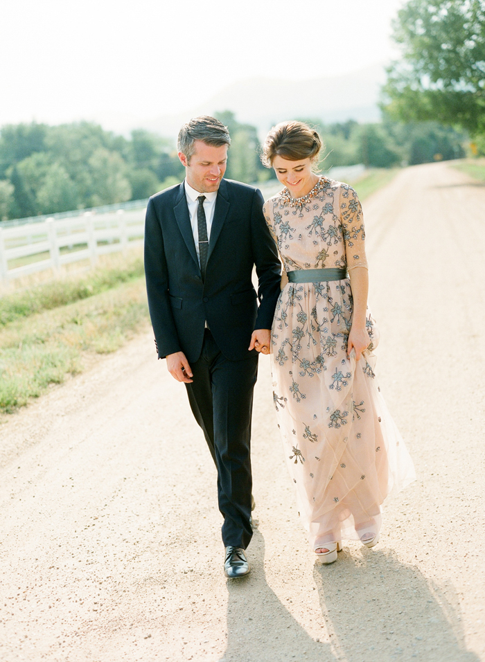 Wedding Blog Melanies Grey and Blush Wedding Gown