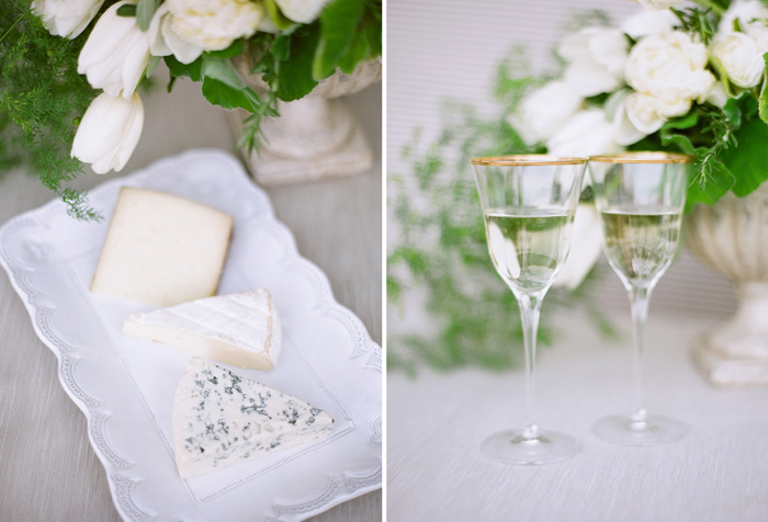 Wedding Blog Champagne and Cheese Party with VIETRI