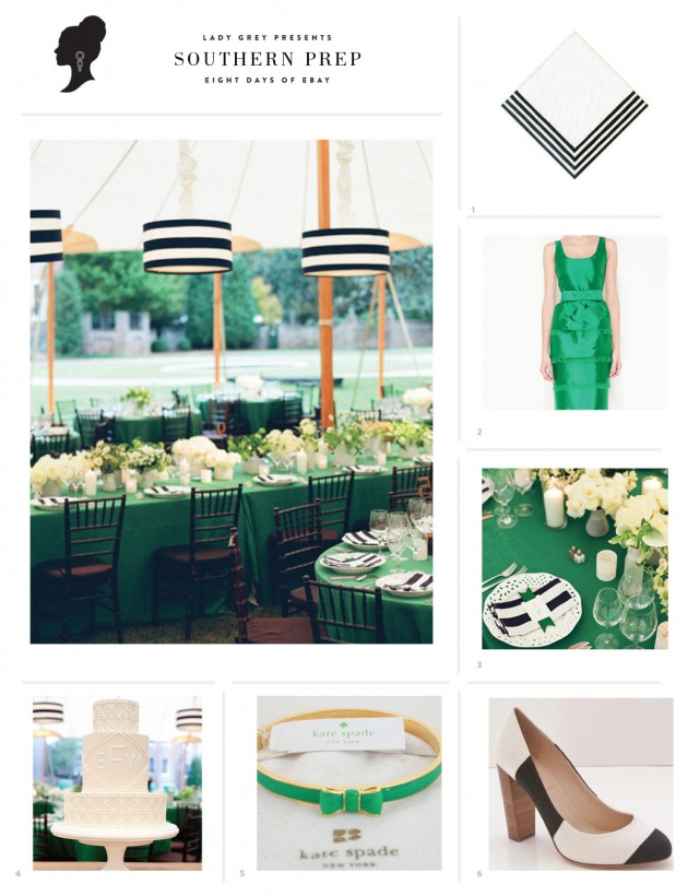 Wedding Blog Preppy Green + Stripes