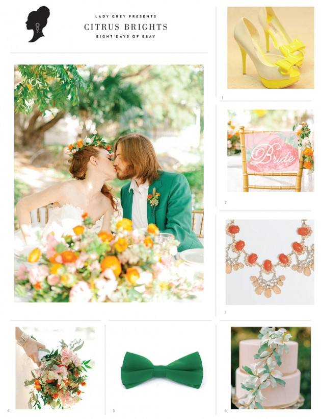Wedding Blog Citrus Brights