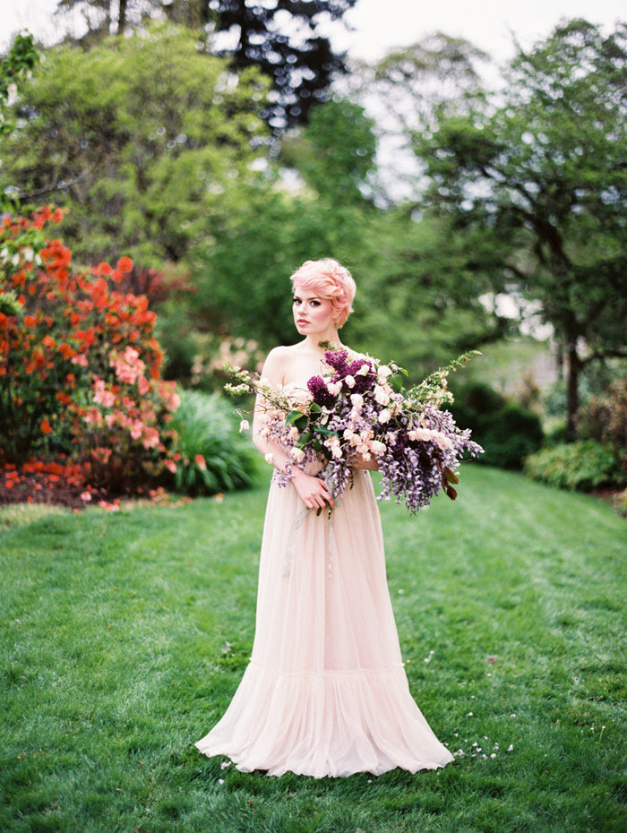 pink-hair-bride-blush-bhldn-dress-bush-gardens-conservatory-1