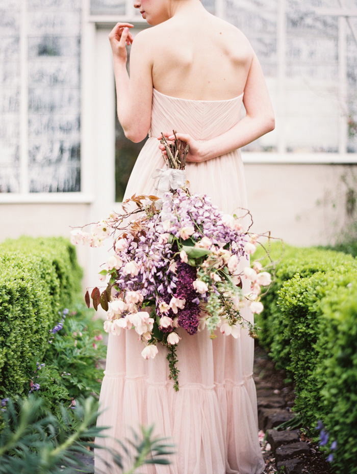 pink-hair-bride-blush-bhldn-dress-bush-gardens-conservatory-3