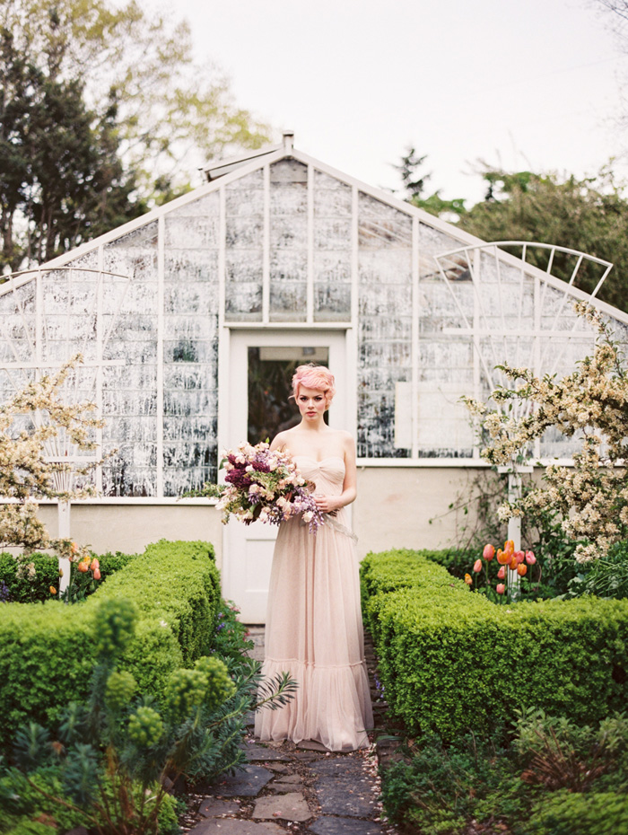 pink-hair-bride-blush-bhldn-dress-bush-gardens-conservatory-6