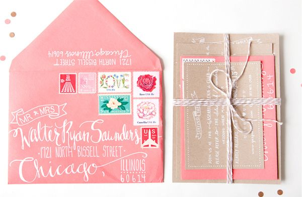 Wedding Blog Invitation Postage