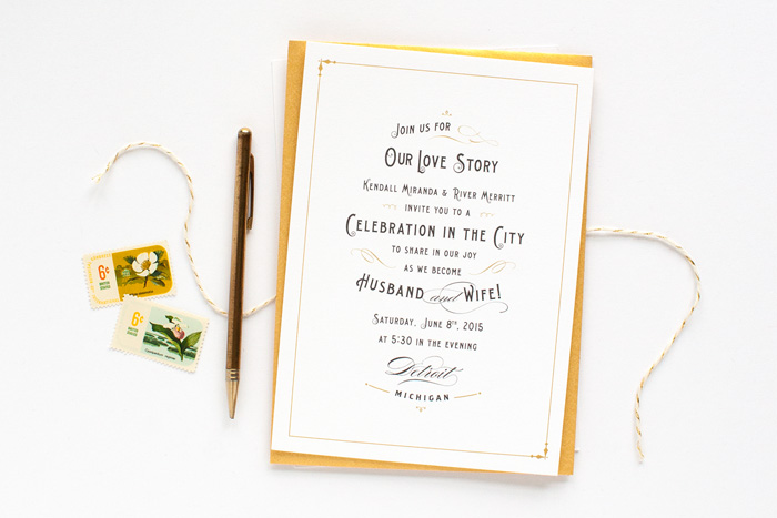 Wedding Blog Stationery Spotlight: Alisa Bobzien