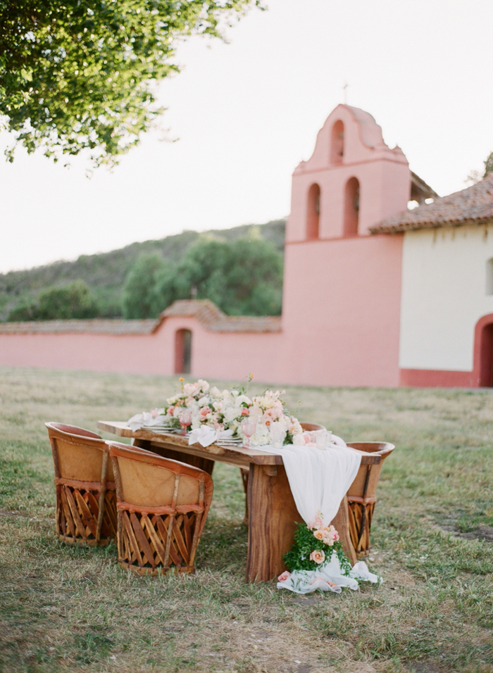 Mexico Spanish Romance Blush Peach Rustic Wedding Ideas