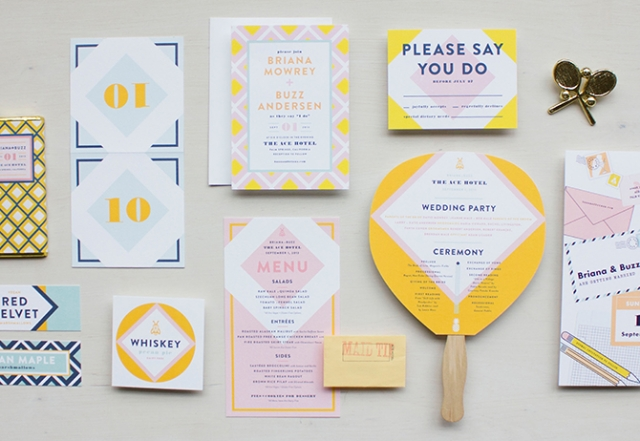 Wedding Blog Wes Anderson Inspired Stationery