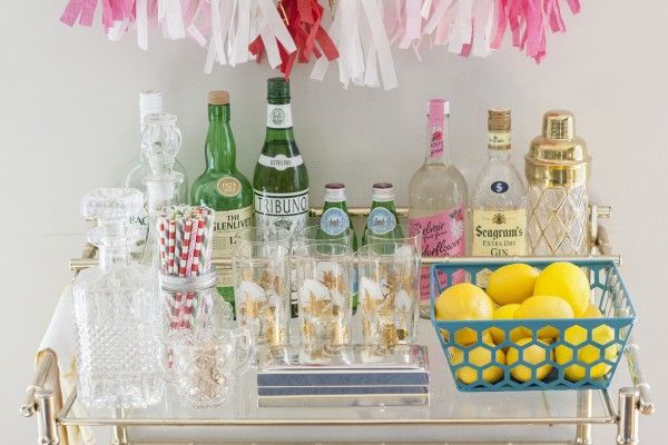 Wedding Blog Guide to Styling Your Bar Cart