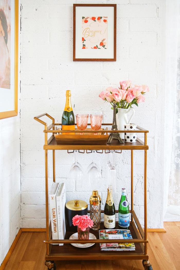 Guide To Styling Your Bar Cart Best Wedding Blog