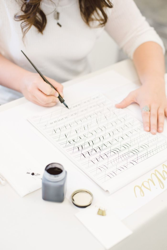 Wedding Blog Laura Hooper Calligraphy Workshop