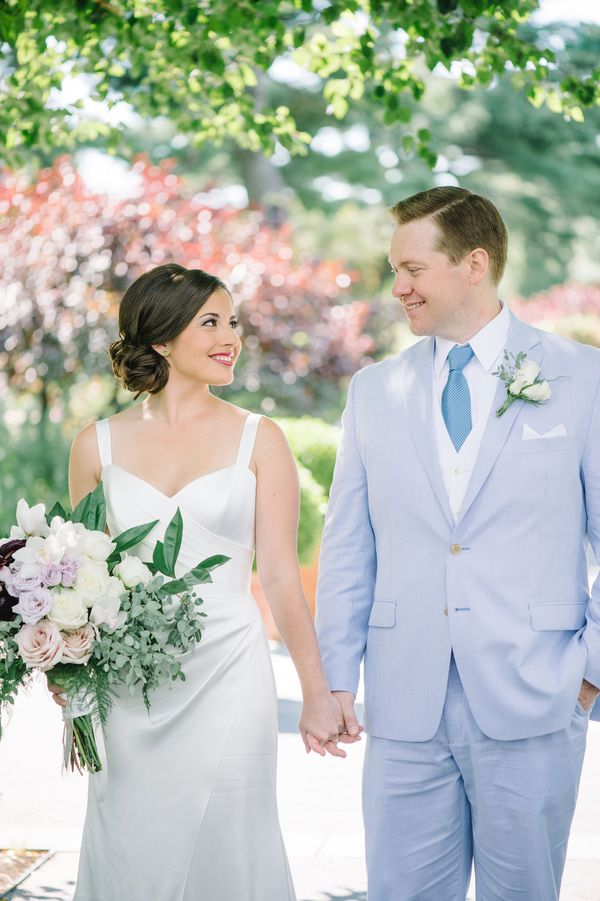 New York Botanical Gardens Spring Wedding Blue Purple