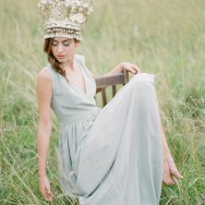 Nature Queen and Her Antique French Bridal Crown