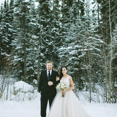 Chelsea and Joe's Snowy Winter Wedding