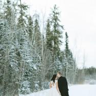 Chelsea and Joe's Snowy Winter Wedding