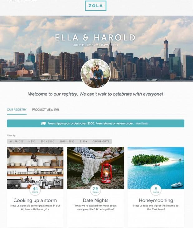 Registry Example - Ella & Harold