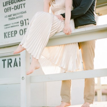 Max and Emily Romantic Beach Engagement