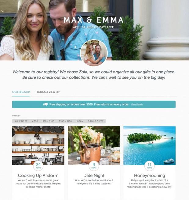 Max and Emma Registry