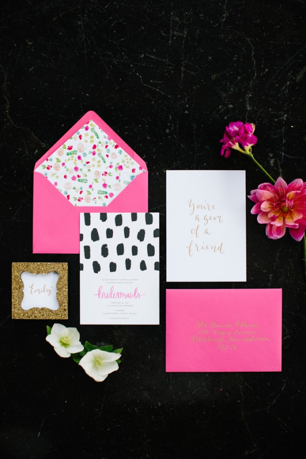 gem-inspired-bridesmaid-luncheon-bridal-shower-modern-city-hot-pink-2