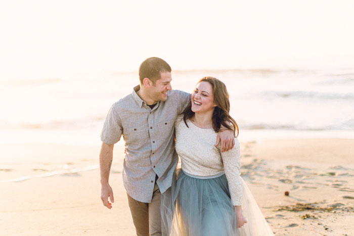 becca and bryans breakfast engagement shoot