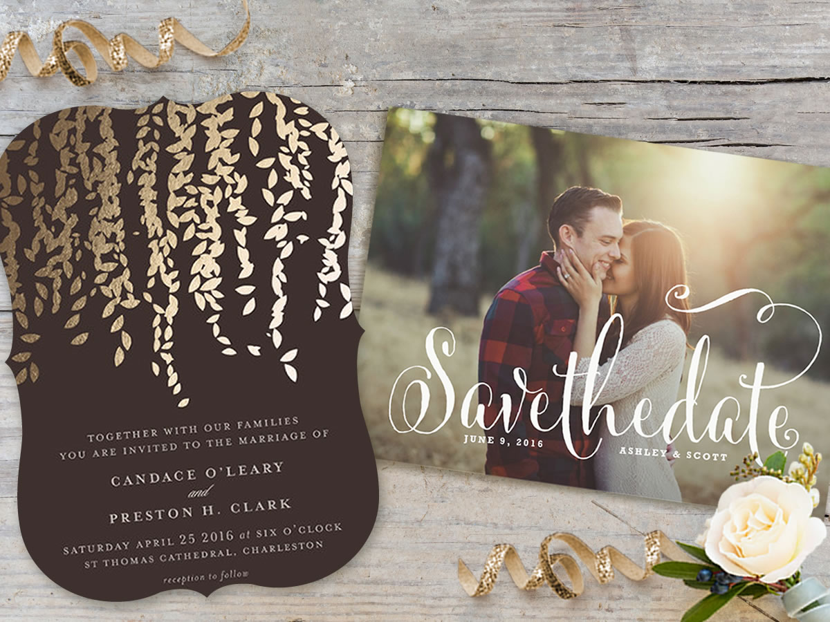Your Style from Start to Finish with Minted – Wedding Save the Date Websites