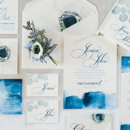 A peaceful, blue inspiration shoot