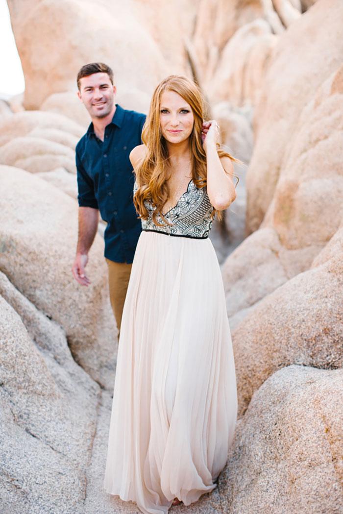 Joshua Tree Engagement Shoot Best Wedding Blog