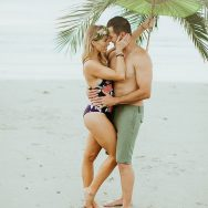 Alyssa and Cove's Beach engagement shoot