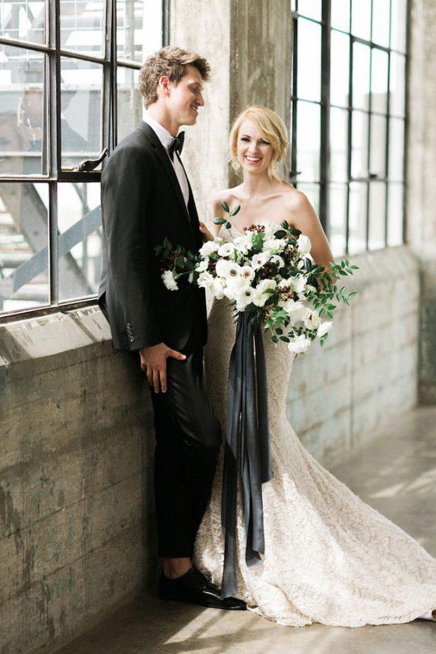 black-white-industrial-feminine-elegant-classic-wedding-inspiration39