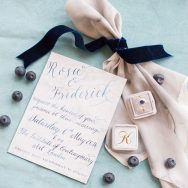Classic Sophisticate Blue Inspiration Shoot