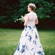 Saga and Jake's european-inspired garden wedding
