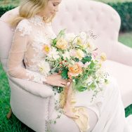 Peach-hued Ranunculus inspiration shoot