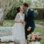 Jenny and Glen's New Hampshire Backyard wedding