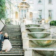 Rachel and Michael's Engagement Shoot at Swan House Gardens