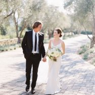 Tierney and Chris' white wedding at San Ysidro Ranch