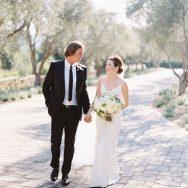 Tierney and Chris' white wedding at San Ysidro Ranch