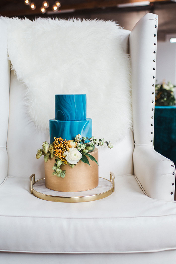 Bold Teal Modern Inspiration Best Wedding Blog