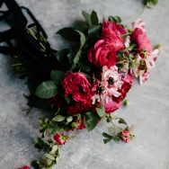 Moody, Red contemporary inspiration shoot