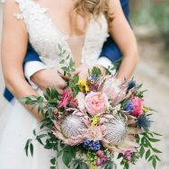 Elizabeth and George's colorful wedding in italy