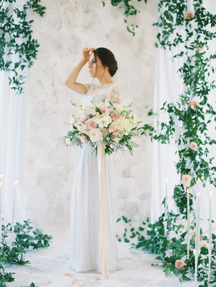 We Emphasized The Organic Movement Of Greenery Throughout Ceremony And Reception Details Our Bride Groom Are Surrounded By Beautiful Foliage In A