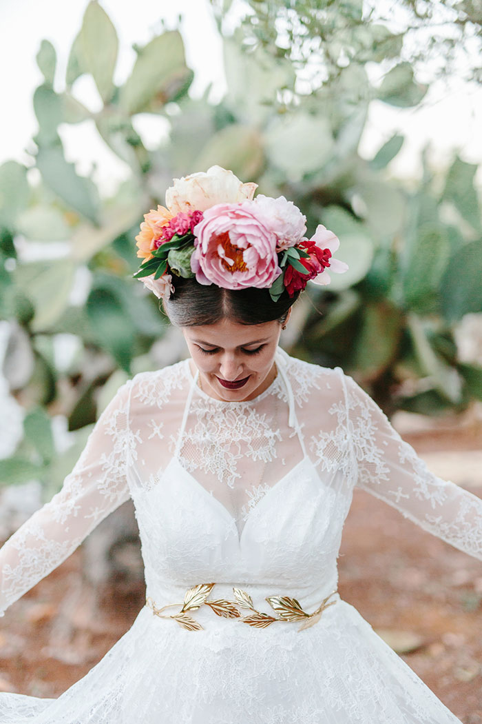 Frida Kahlo Inspired Italian Peony Floral Boho Wedding Inspiration40