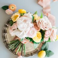 Citrus-hued Garden Rose inspiration