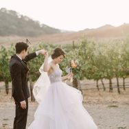 Julie and Chris' wedding at Clos LaChance Winery
