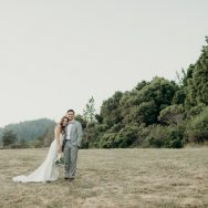Ari and Rolan's wedding at Roaring Camp Railroad