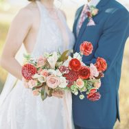 Light red and dusty blush Inspiration shoot