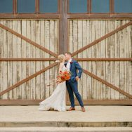 Carolyn and Charles's Autumn Barn Wedding
