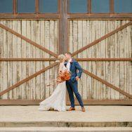 Carolyn and Charles's Autumn Barn Wedding