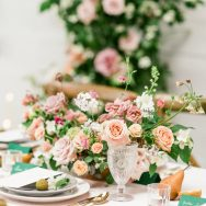 Romance in Dusty Blush and Emerald